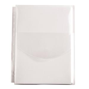 Paljetasku A4 180 mic PVC läpällä, kirkas, myyntierä 1 kpl = 50 taskua