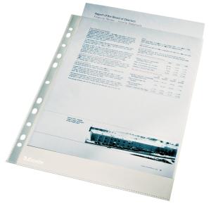 Esselte kansiotasku A4 105mic, PP, lasinkirkas, myyntierä 1 kpl = 100 taskua