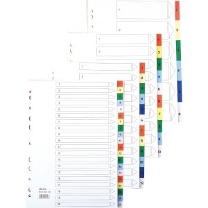 Lyreco hakemisto 1-20 A4 PP värilajitelma