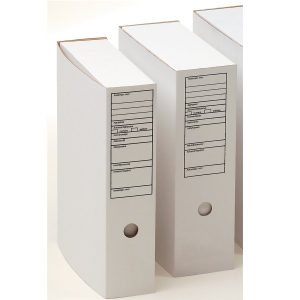 Arkistolaatikko A4 90mm etikettip valkoinen