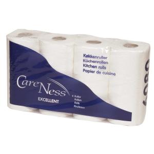 Abena Care Ness talouspaperi valkoinen 2-kertainen, myyntierä 1 kpl = 4 rll
