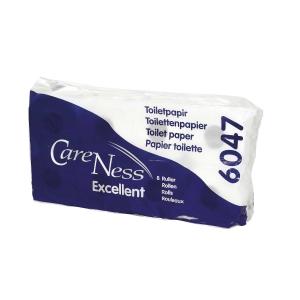 Abena Care Ness wc paperi 3-kertainen valkoinen, myyntierä 1 pakkaus = 72 rullaa