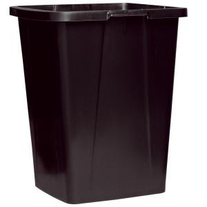 DURABIN SQUARE WASTE BIN 90L BLACK