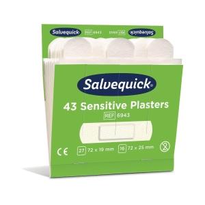 Salvequick 6943 kuitukangaslaastari, myyntierä 1 kpl = 6 x 43 laastaria