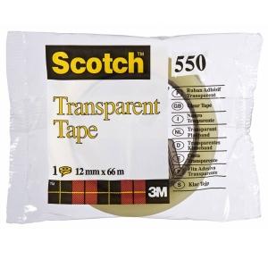 Scotch 550 teippi, 12mm x 66m, läpinäkyvä
