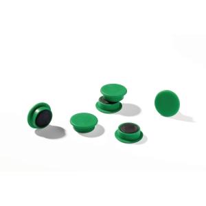 Magneetti 475205, 21mm, vihreä, myyntierä 1 kpl = 20 magneettia