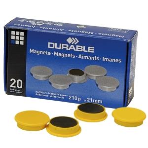Magneetti 475204, 21mm, keltainen, myyntierä 1 kpl = 20 magneettia