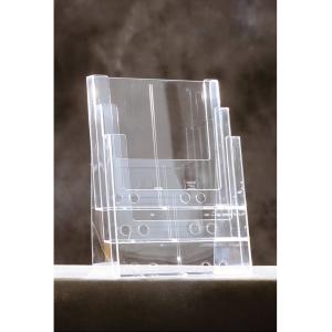 Pöytäteline 3C230 A4 3 osaa, mitat: 230 x 32 mm (x 3), kirkas