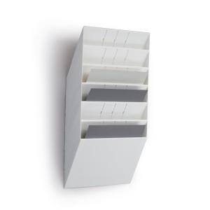Seinäteline A4 vaaka, 6 osaa, mitat: 620 x 348 x 95 mm, valkoinen