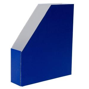 Lehtikotelo A4 kartonkia, koottava, mitat: 256 x 70 x 298 mm, sininen