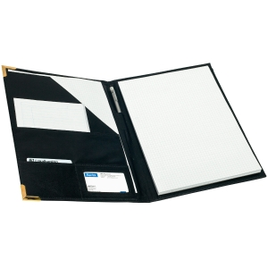 Pierre 6386-10 kokouskansio, sisällä taskut, mitat: 24,5 x 33 cm, musta