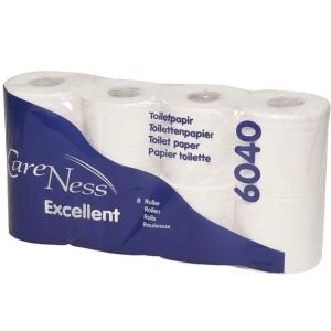 Abena Care Ness wc paperi 2-kertainen valkoinen, myyntierä 1 pakkaus = 64 rullaa