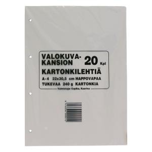 Valokuva-albumin kartonki 22x30,5cm 240g, myyntierä 1kpl = 20 arkkia