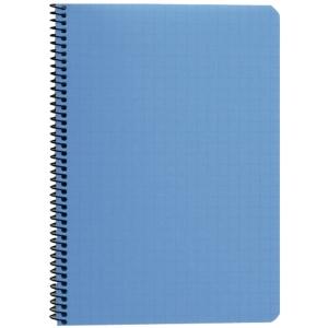 Paperipiste kierrevihko A5/80, 7 x 7mm ruuduilla, sininen