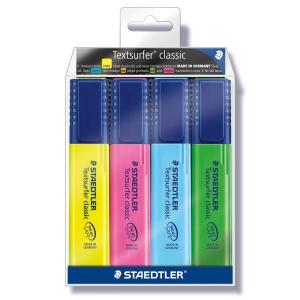 Staedtler Textsurfer 364 korostuskynä viisto 1-5 mm, värilaj., me 1 kpl = 4kynää