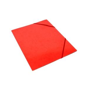 Kulmalukkokansio läpällä A4 kartonki, punainen