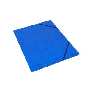 Kulmalukkokansio läpällä A4 kartonki, sininen