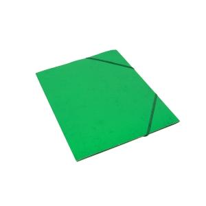 Kulmalukkokansio läpällä A4 kartonki, vihreä