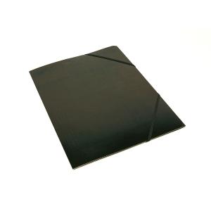 Kulmalukkokansio läpällä A4 kartonki, musta