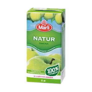 Marli natur täysmehu omena 0,2 L, myyntierä 1 kpl =  27 mehua
