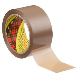 Scotch pakkausteippi 50mm x 66m PP, ruskea, myyntierä 1 kpl = 6 rullaa