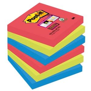 Post-it Super Sticky viestilaput 76 x 76mm, Bora Bora, 1 kpl = 6 nidettä