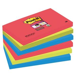 Post-it Super Sticky viestilaput 76 x 127mm, Bora Bora, 1 kpl = 6 nidettä