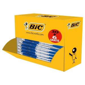 BIC Atlantis Clic kuulakärkikynä mekanismilla 0,32 mm sininen, 1 kpl = 36 kynää