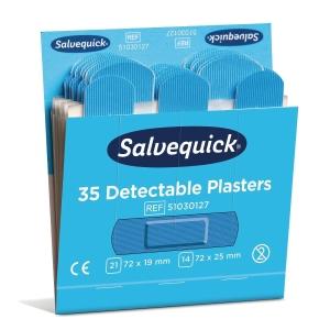 Salvequick 6735cap muovilaastari sininen, myyntierä 1 kpl = 6 kasettia