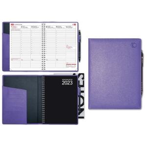 CC 2289 Viikkomuistio Plus pöytäkalenteri A5, violetti