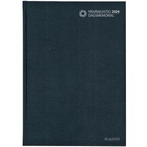 Ajasto Päivämuistio/Dagsmemorial pöytäkalenteri A4 sidottu, tummanharmaa