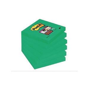Post-It Super Sticky viestilappu 76 x 76mm ikivihreä, 1 kpl = 6 nidettä