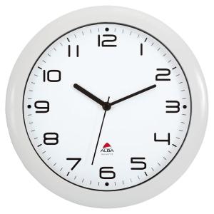 Alba Easy Time seinäkello 30 cm, valkoinen