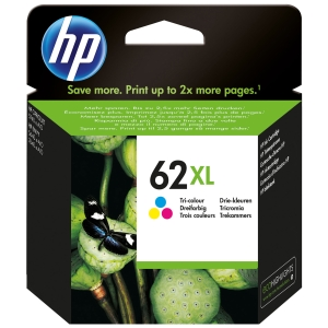 HP 62XL Mustesuihkupatruuna 3-väri HPXL