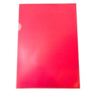 Muovitasku A4 110mic PP punainen appelsiinipintainen, myyntierä 1kpl= 100 taskua