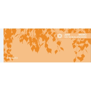 Ajasto Memo veckokalendern pöytäkalenteri 255 x 95 mm