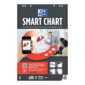 Oxford Smart Chart luentotaululehtiö 65 x 99cm, blanko, 1 kpl = 3 nidettä