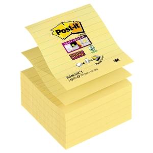 Post-it Super Sticky viestilaput 101 x 101 mm viiv, keltainen, 1 kpl = 5 nidettä