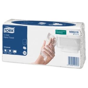 Tork 471111 H3 universal käsipyyhe c-taitto, myyntierä 1 pakkaus = 2400 pyyhettä