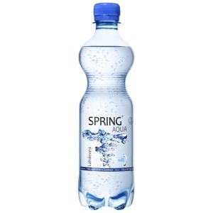 Spring Aqua hiilihapollinen lähdevesi 0,5L, 1 kpl=12 pulloa