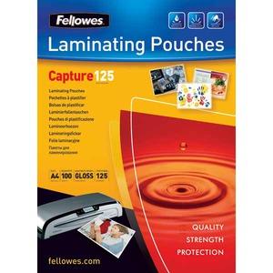 Fellowes laminointitasku A4 2x125mic kirkas, myyntierä 1 kpl = 100 taskua