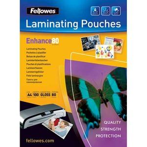Fellowes laminointitasku A4 2x80mic kirkas, myyntierä 1 kpl = 100 taskua
