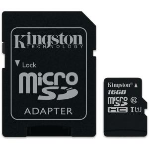 Kingston Canvas Select muistikortti microSDXC 16GB adapterilla