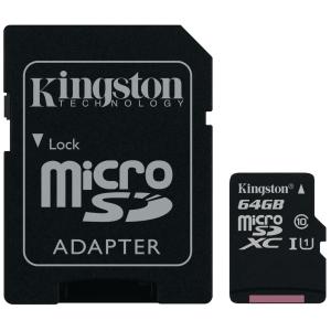 Kingston Canvas Select muistikortti microSDXC 64GB adapterilla