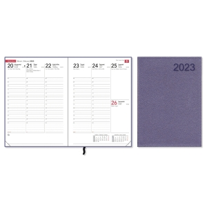 CC 2349 Compact Trend pöytäkalenteri A5, metallic fuchsia