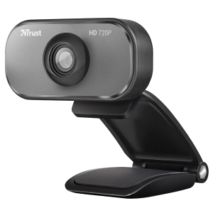 Trust Viveo HD 720P webkamera, musta