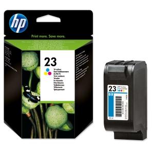 HP No. 23 C1823DE Mustesuihkupatruuna 3-väri