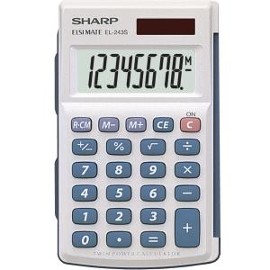 Sharp EL243S taskulaskin 8 numeron näyttö