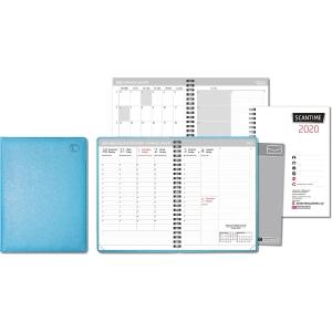 CC 2130 Scantime pöytäkalenteri 2020 A5, turkoosi