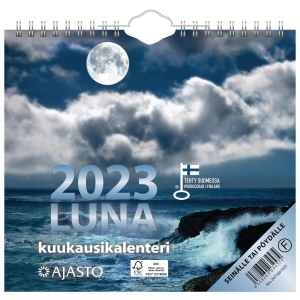 Ajasto Luna seinäkalenteri 2020 200 x 180 mm